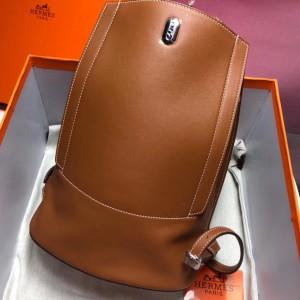 Hermes GR24 Backpack In Gold Swift Calfskin