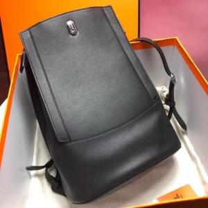 Hermes GR24 Backpack In Black Swift Calfskin