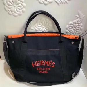 Hermes Black Functional Grooming Bag