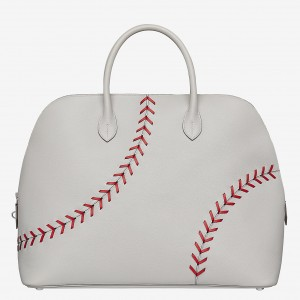 Hermes Gris Perle Bolide 1923 45 Baseball Bag
