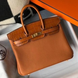 Hermes Touch Birkin 25cm Limited Edition Gold Bag