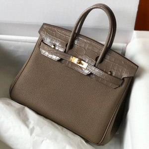 Hermes Touch Birkin 25cm Limited Edition Taupe Bag