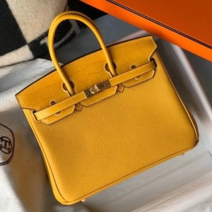 Hermes Touch Birkin 25cm Limited Edition Yellow Bag