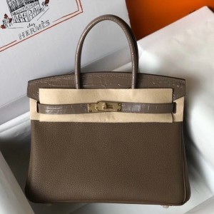 Hermes Touch Birkin 30cm Limited Edition Taupe Bag