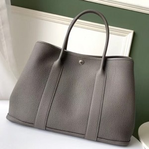 Hermes Grey Fjord Garden Party 30cm With Printed Lining