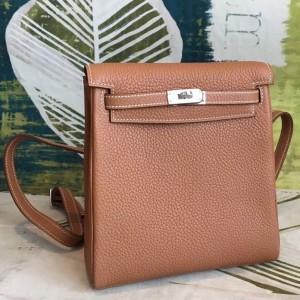 Hermes Brown Clemence Kelly Ado PM Backpack