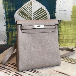 Hermes Gris Asphalt Clemence Kelly Ado PM Backpack