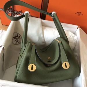 Hermes Canopee Lindy 30cm Clemence Handmade Bag