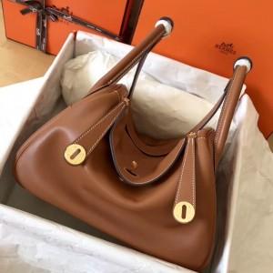 Hermes Gold Lindy 30cm Swift Handmade Bag