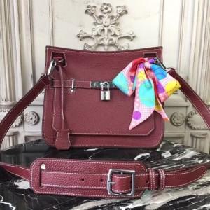 Hermes Bordeaux Clemence Jypsiere 28cm Bag