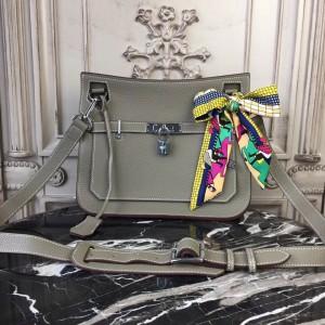 Hermes Grey Clemence Jypsiere 28cm Bag