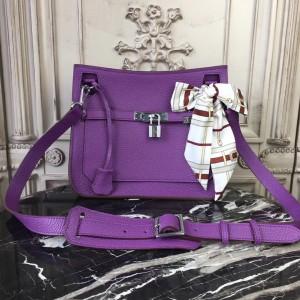 Hermes Purple Clemence Jypsiere 28cm Bag
