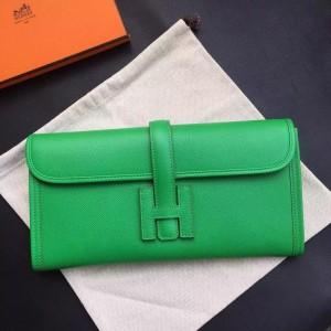 Hermes Bamboo Epsom Jige Elan 29 Clutch Bag
