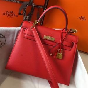 Hermes Kelly 25cm Sellier Bag In Piment Epsom Leather