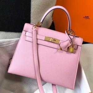 Hermes Pink Epsom Kelly 32cm Sellier Bag
