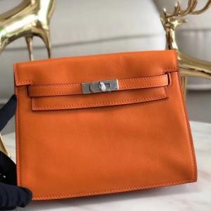 Hermes Orange Swift Kelly Danse Bag