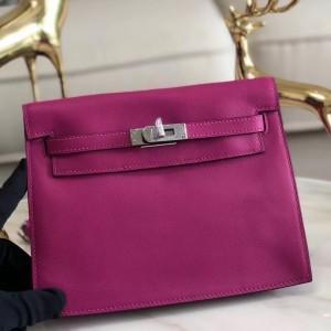 Hermes Rose Purple Swift Kelly Danse Bag