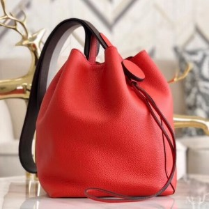Hermes Licol 17cm Bag In Red Evercolor Calfskin