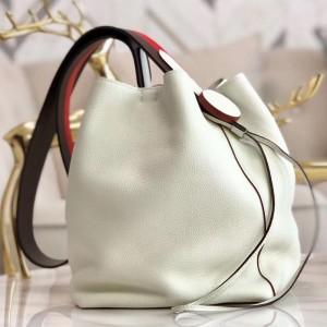 Hermes Licol 17cm Bag In White Evercolor Calfskin
