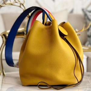 Hermes Licol 17cm Bag In Yellow Evercolor Calfskin