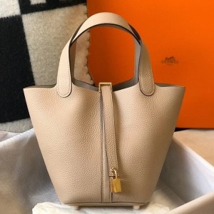 Hermes Picotin Lock 18 Bag In Trench Clemence Leather