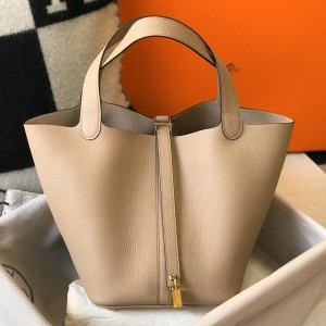 Hermes Picotin Lock 22 Bag In Trench Clemence Leather