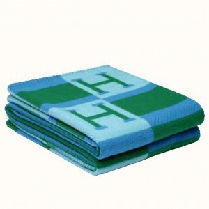 Hermes Emeraude Avalon Bayadere Throw Blanket