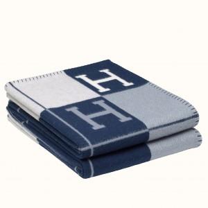 Hermes Blue Avalon III Throw Blanket