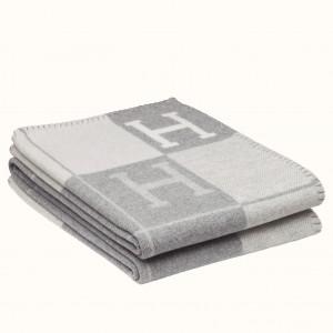 Hermes Grey Avalon III Throw Blanket
