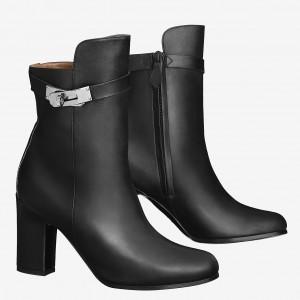 Hermes Noir Joueuse Ankle Boots