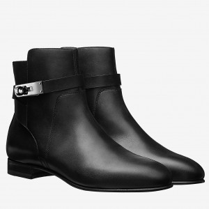 Hermes Black Neo Ankle Boots