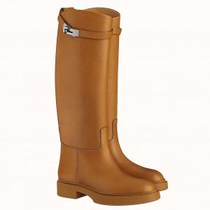 Hermes Variation Boots In Brown Calfskin