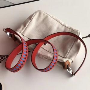 Hermes Red Tressage Cuir 25 MM Bag Strap