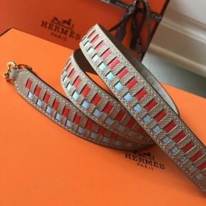 Hermes Tourterelle Tressage Cuir 25MM Bag Strap
