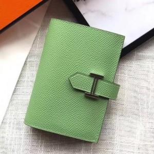 Hermes Bearn Mini Wallet In Vert Criquet Epsom Leather