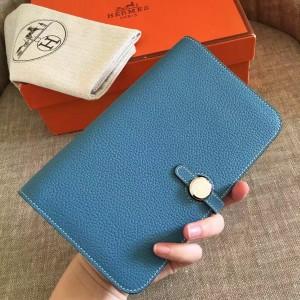 Hermes Blue Jean Dogon Duo Combined Wallet