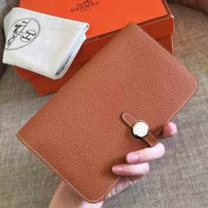 Hermes Gold Dogon Duo Combined Wallet