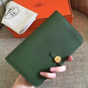 Hermes Dark Green Dogon Duo Combined Wallet