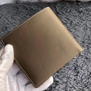 Hermes Taupe MC² Copernic Compact Wallet