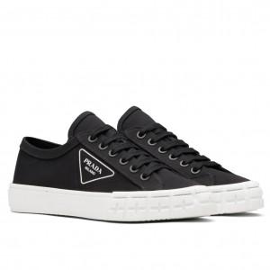 Prada Black Gabardine Fabric Sneakers