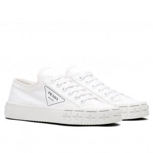 Prada White Gabardine Fabric Sneakers