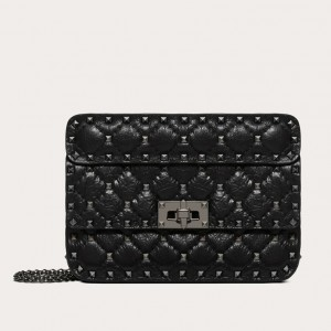 Valentino Rockstud Spike Small All Black Bag