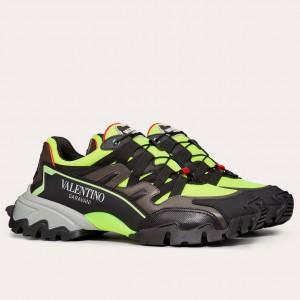 Valentino Men's Black/Green Climbers Sneakers