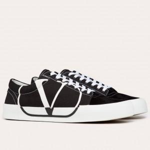 Valentino Garavani Tricks Canvas And Suede Sneakers