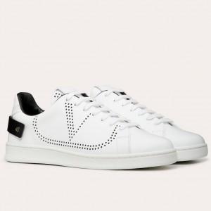 Valentino Men's Backnet VLOGO Sneakers With Black Heel