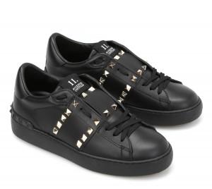 Valentino Black Rockstud Untitled Sneaker