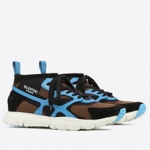 Valentino Garavani Blue Sound High Sneakers