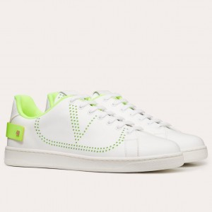 Valentino Women's Backnet Sneakers With Lime Heel
