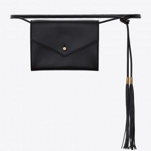 Saint Laurent Black Envelope Belt Bag