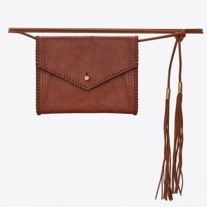 Saint Laurent Brown Envelope Belt Bag